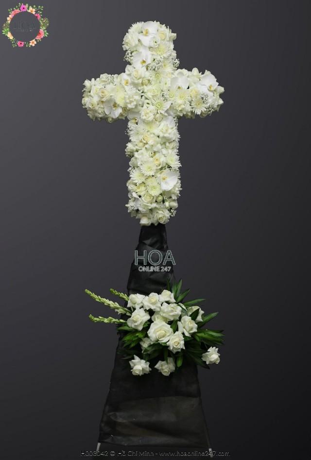 Lẵng hoa chia buồn - Hình 3