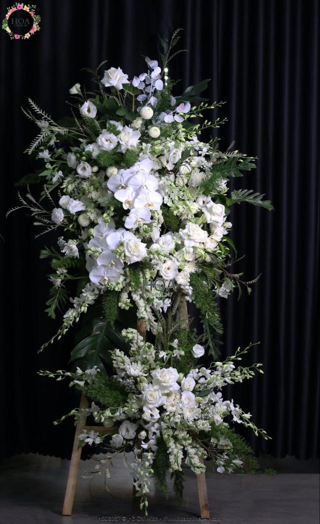 Lẵng hoa chia buồn - Hình 4