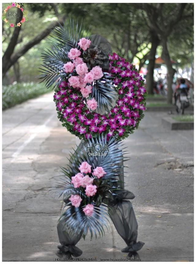 Lẵng hoa chia buồn - Hình 6