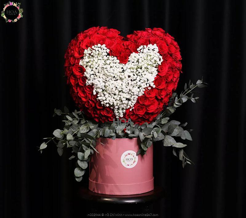 Ý nghĩa của hoa baby - hoa baby tạo hình trái tim